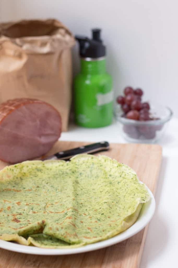 french savory spinach crepe