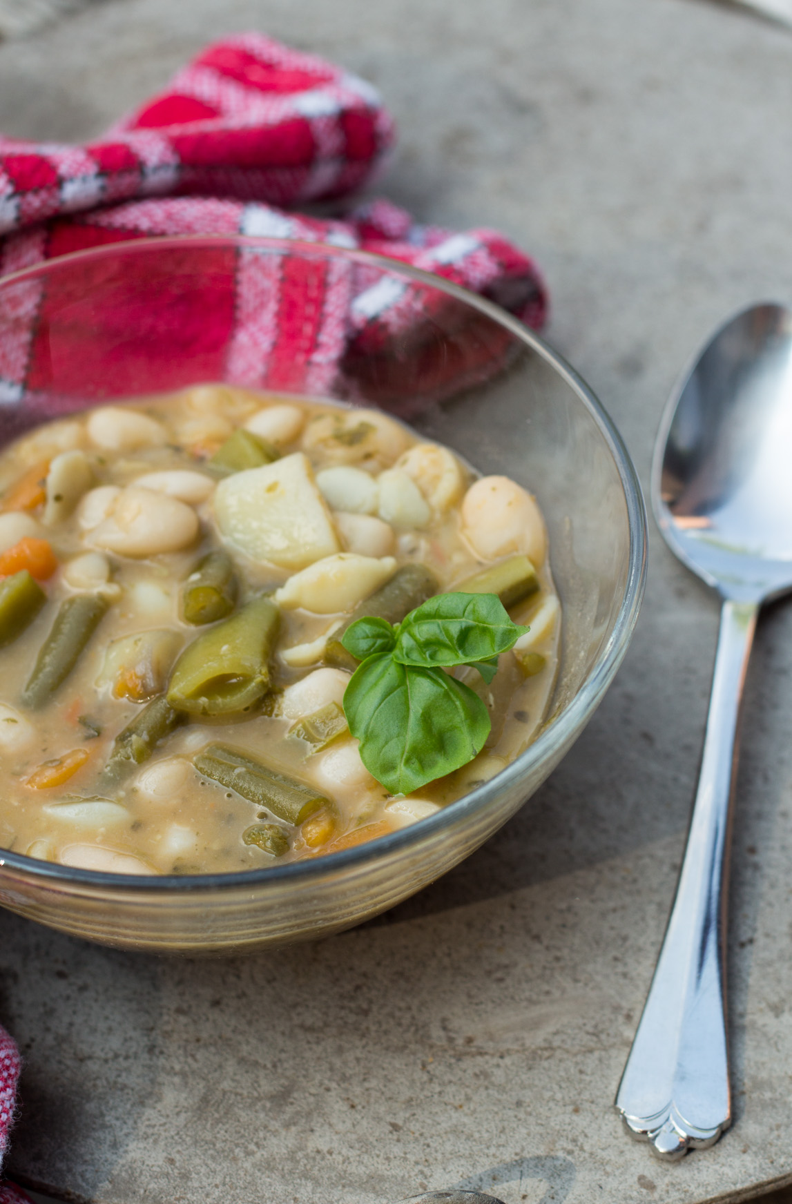 Soupe au pistou, a French summer soup